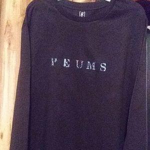 P E U M S  T-Shirt Long Sleeve Black
